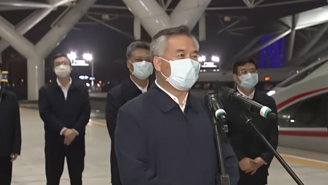 高铁专列接湖北籍员工返粤复工 广东省委书记到站迎接