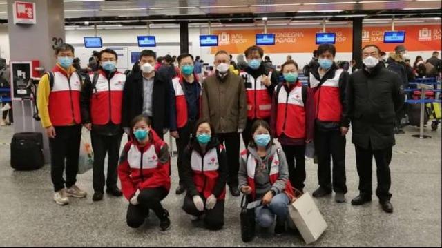 英雄归国!中国首批援意医疗专家组启程回国