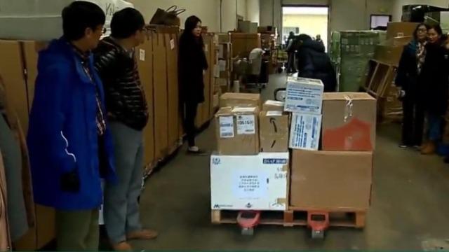 在美华人组织先后援助中美两国:捐赠大批物资