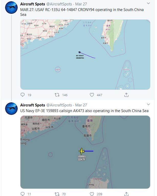罗斯福航母爆发疫情缺席西太 美军侦查力量变得极其活跃