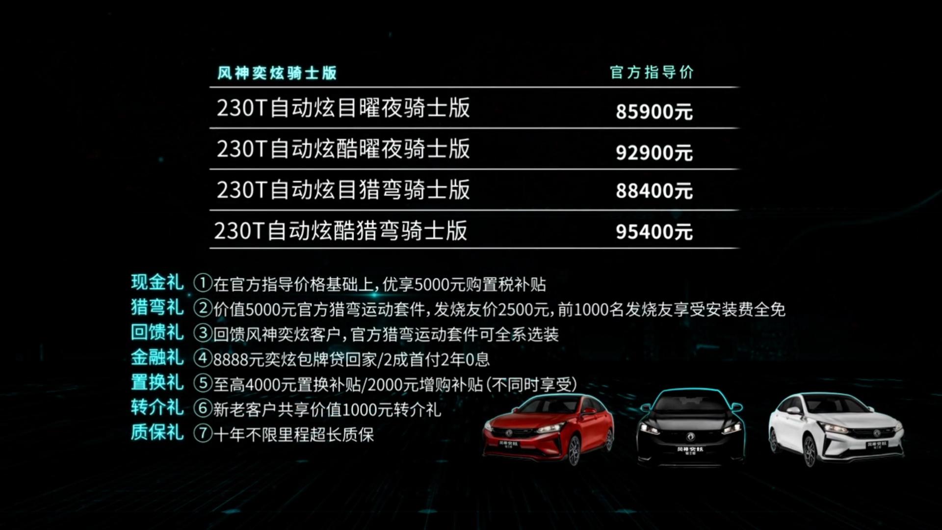 东风风神奕炫骑士版正式上市 售价8.59-9.54万元