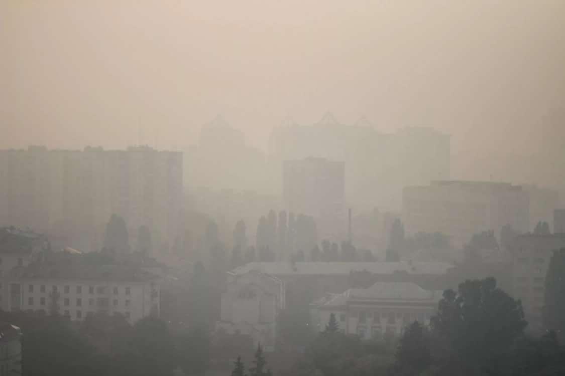强风致切尔诺贝利禁区火复燃 乌克兰首都污染爆表