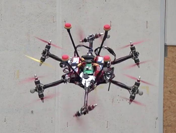 恒行平台12个旋翼 苏黎世联邦理工学院展示新全向无人机