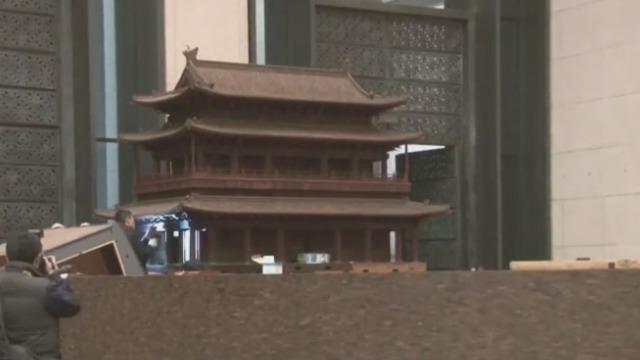 传统木结构与紫檀的完美结合!安定门模型在国博展出