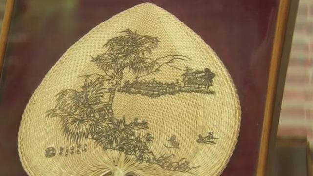 新会葵扇始于东晋年间 到现在已有一千六百年的历史