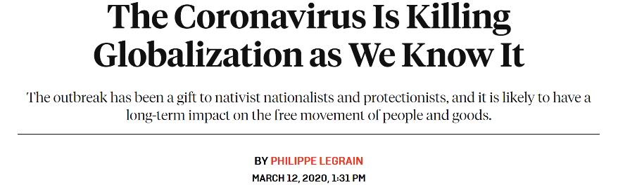 特朗普:疫情证明逆全球化政策是对的 美媒:这说明你一开始就错了