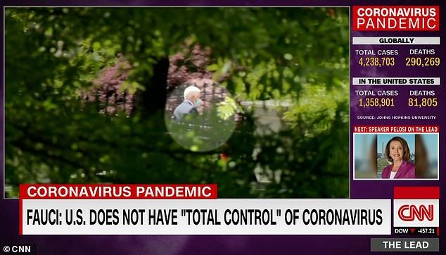 决定与特朗普保持距离后 彭斯戴口罩去白宫上班