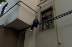 青海7岁男孩翻窗顺管道往下爬,被困架空电线