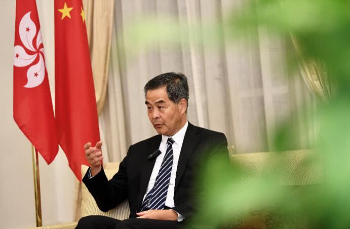梁振英@汇丰银行:不能一边赚中国的钱 一边跟西方国家做损害中国的事