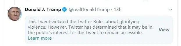 """【比特币价格】_美化暴力!特朗普威胁对""""暴徒""""开枪再遭推特警告"""