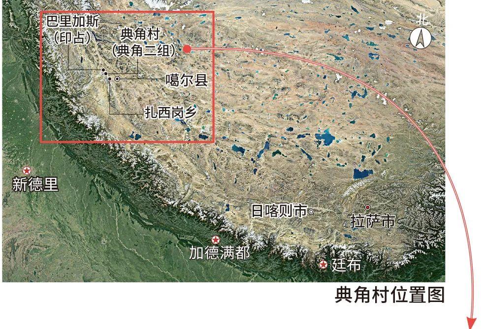 西藏典角村,前方距印度碉堡仅600米