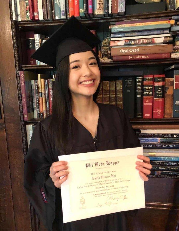 优秀!陈冲大女儿哈佛毕业获学校最高荣誉
