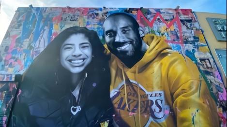 示威者未破坏科比父女壁画,瓦妮莎更新社媒表示感谢