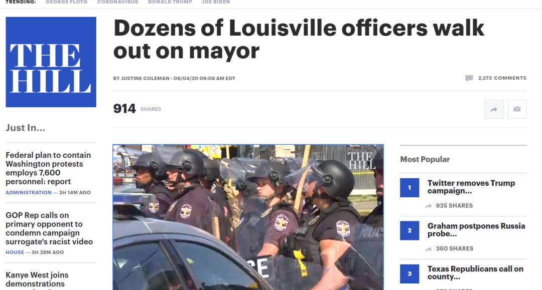 这一幕,显示美国警察的情绪也要达到临界点了!