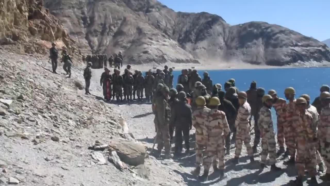 印媒曝光班公湖对峙视频 双方派出增援