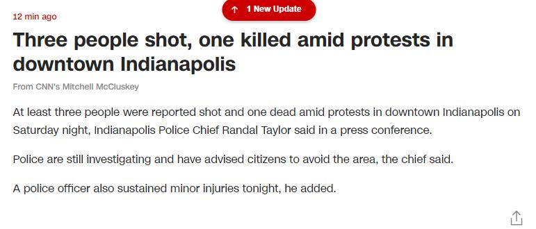 【比特儿交易平台】_美国抗议活动发生枪击 3人中枪1人死亡