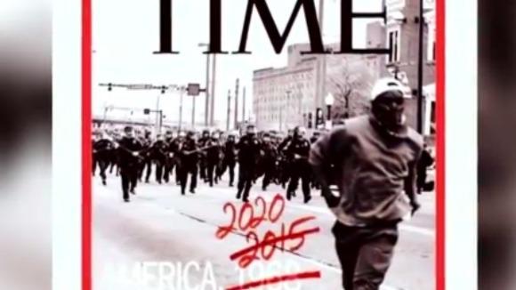 美国深陷种族暴力恶性循环 卡戴珊:《时代》周刊封面能重复使用
