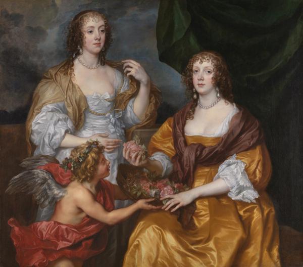 《伊丽莎白·西姆贝尔毕女士与安多弗子爵夫人多萝西》,凡·戴克