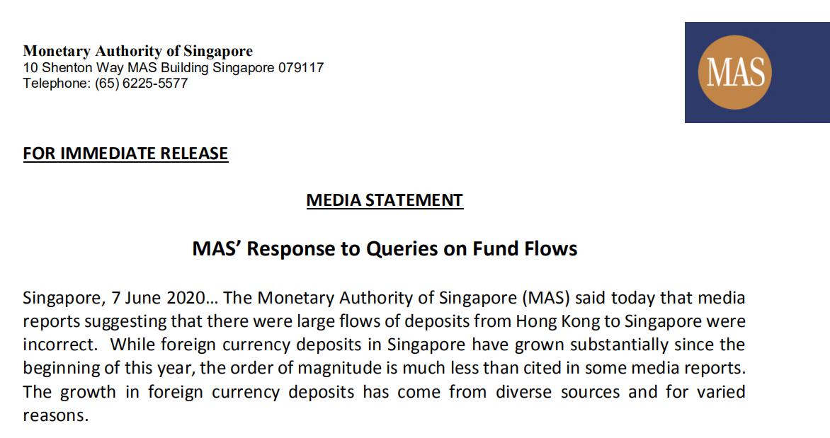 【网络营销发展】_香港资金大量流入?新加坡金管局回应