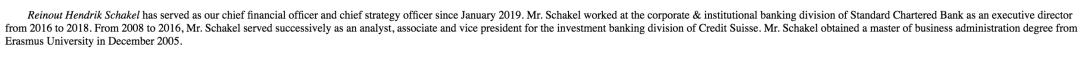 图注:首席财务官(CFO)Reinout Schakel履历截图(来源:招股书)