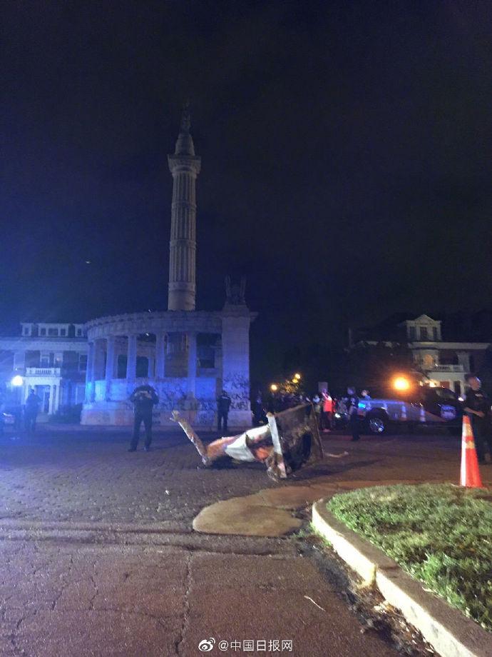 【陈海波简历】_美国抗议人士推倒南方邦联总统雕像