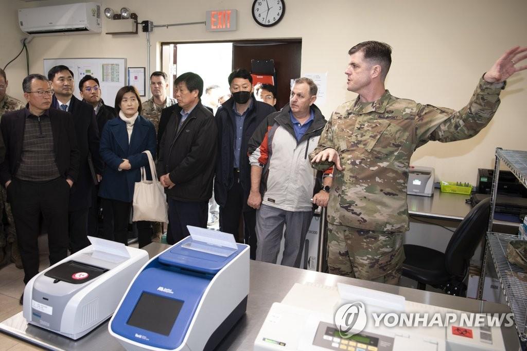 △2019年12月末,驻韩美军公开了釜山基地的相关设施 图片来源:韩联社