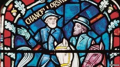 ▲李将军的雕像几乎遍布美国南部各州,连教堂的彩色花窗都有他的画像。