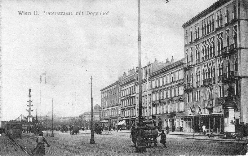 △1908年的奥地利维也纳街景 / wiki