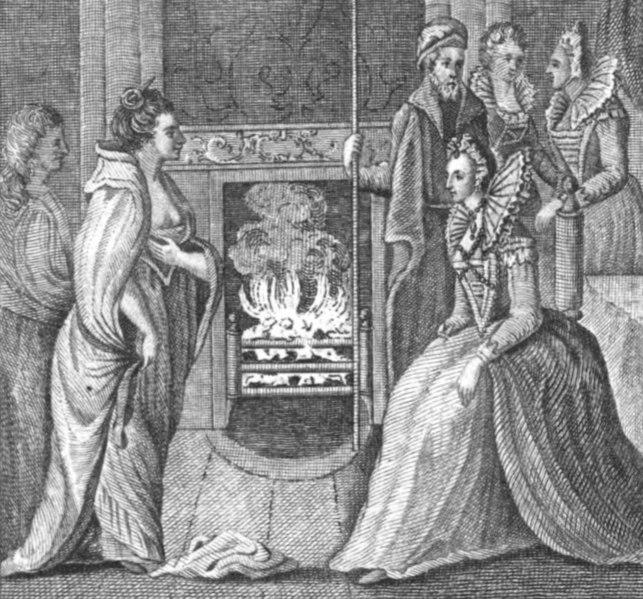 """""""海盗女皇""""格蕾丝亲自驾船前往英格兰,与英国女王伊丽莎白一世谈判。"""