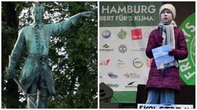 """【国产亚洲香蕉精彩视频博客】_推倒雕像潮中,瑞典前市长忍不住建议:把国王雕像换成""""环保少女"""""""