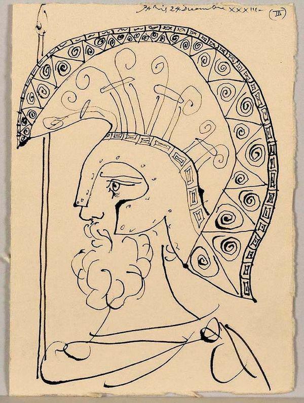 被盗的毕加索 《利斯特拉塔研究》(1933)