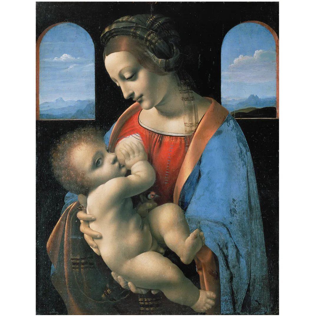 达芬奇,《哺乳圣母》
