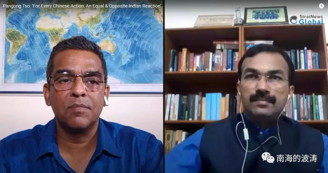 图1. 视频连线直播主持人(左)和S Dinny上校