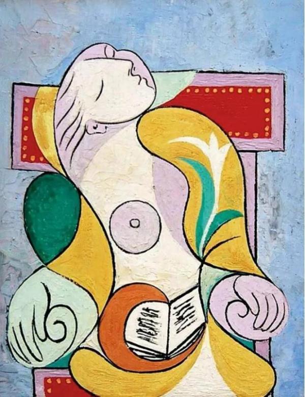 毕加索《读》