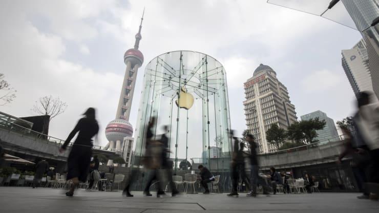 苹果上海零售店