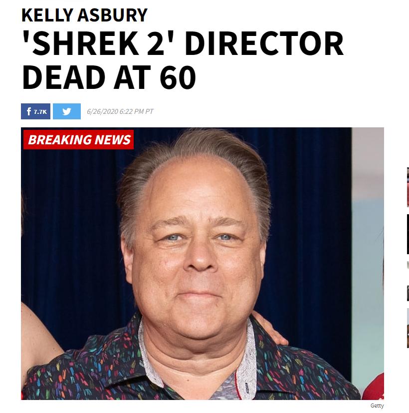 《怪物史瑞克2》导演因癌症去世,享年60岁