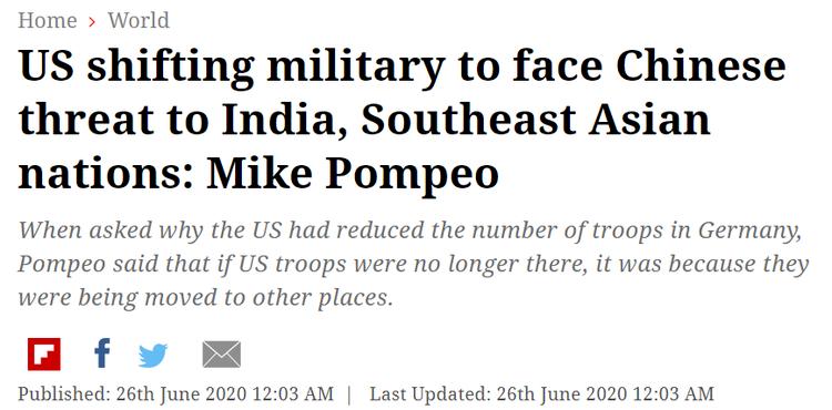 美国调军队插手中印?某些人想多了