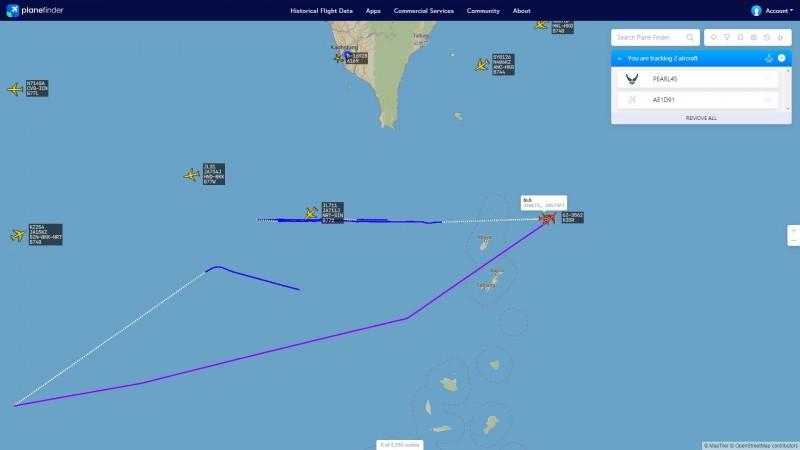台媒称解放军军机26日中午在台湾西南空域飞行(图片来源:台媒)