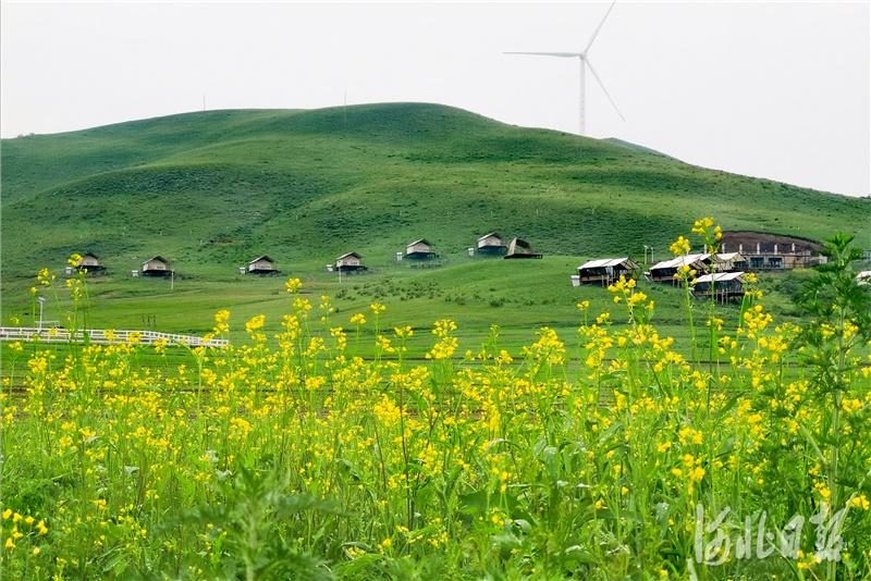 2020年6月29日拍摄的河北省丰宁满族自治县大滩镇小北沟村雨后美景。