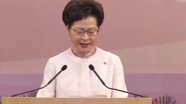 现场:林郑月娥哽咽致辞 现场掌声经久不息
