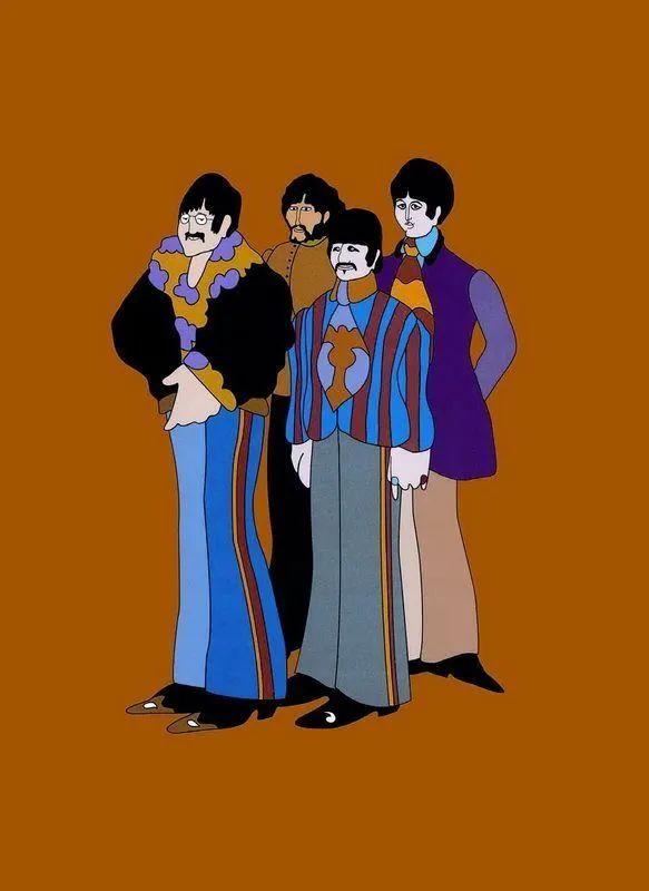 艾德曼,披头士,《黄色潜水艇》插画· Subafilms Ltd.