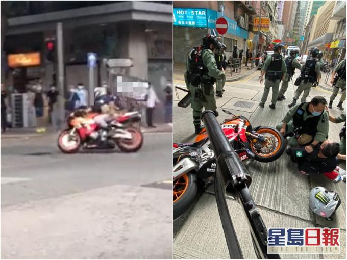 【google pr】_暴徒骑摩托撞警员,被正式控告违反《港区国安法》