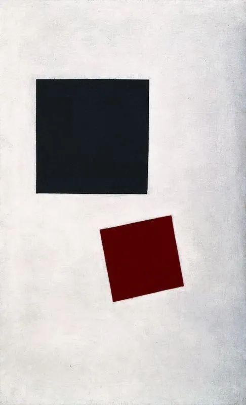 马尔维奇,黑色方形与红色方形,1915,纽约,现代艺术博物馆