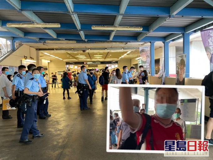 中年男子在场不断质问黄之锋(图片来源:香港《星岛日报》)