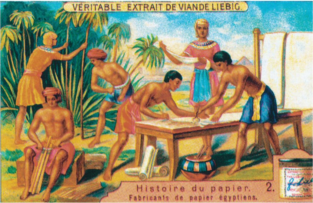 古埃及纸张制作。