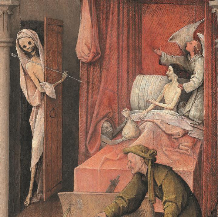 """《死神与吝啬鬼》局部 图源:""""欧洲文艺复兴大师""""书系之《博斯》"""