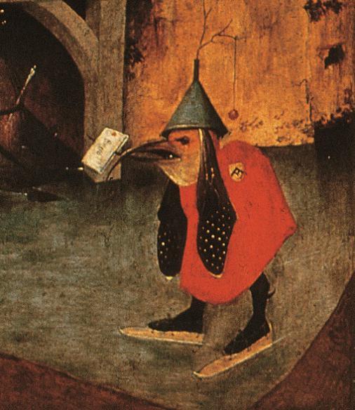 """《最后的审判》三联画局部 图源:""""欧洲文艺复兴大师""""书系之《博斯》"""