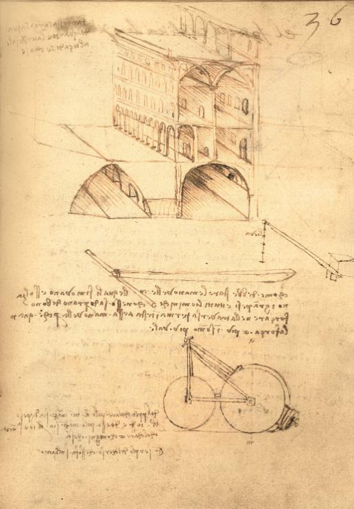 """达·芬奇理想城手稿 图源:""""欧洲文艺复兴大师""""书系之《达·芬奇》"""