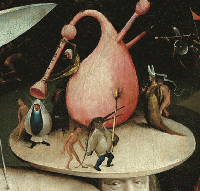 """《快乐之园》三联画右侧画面局部 """"欧洲文艺复兴大师""""书系之《博斯》"""