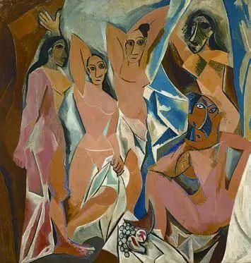 毕加索,阿维尼翁少女,1907,纽约,现代艺术博物馆